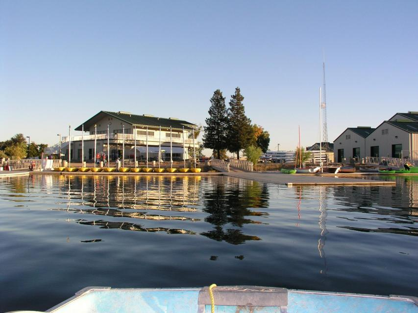 View of the Aquatic Center facility from the water