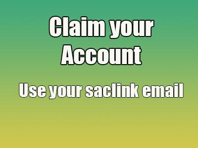 Claim you account - use your saclink account