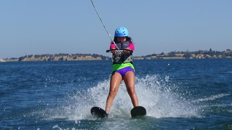 Girl on water skis
